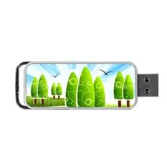 Landscape Nature Background Portable Usb Flash (one Side)