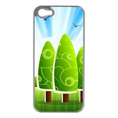 Landscape Nature Background Apple Iphone 5 Case (silver)