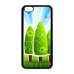 Landscape Nature Background Apple Iphone 5c Seamless Case (black)