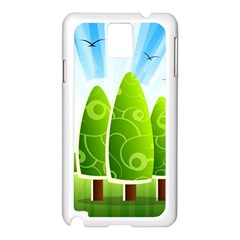 Landscape Nature Background Samsung Galaxy Note 3 N9005 Case (white)