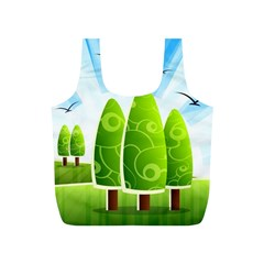Landscape Nature Background Full Print Recycle Bags (s)