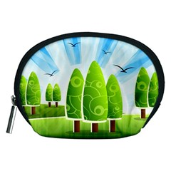 Landscape Nature Background Accessory Pouches (medium)