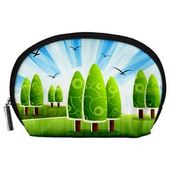 Landscape Nature Background Accessory Pouches (large)
