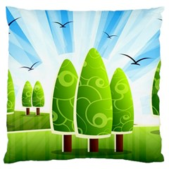 Landscape Nature Background Standard Flano Cushion Case (two Sides)