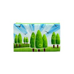 Landscape Nature Background Cosmetic Bag (xs)