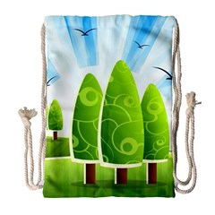 Landscape Nature Background Drawstring Bag (large)