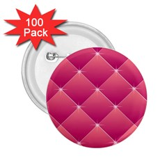 Pink Background Geometric Design 2 25  Buttons (100 Pack)