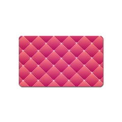 Pink Background Geometric Design Magnet (name Card)