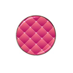 Pink Background Geometric Design Hat Clip Ball Marker (4 Pack)
