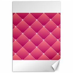 Pink Background Geometric Design Canvas 12  X 18   by Nexatart