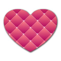 Pink Background Geometric Design Heart Mousepads