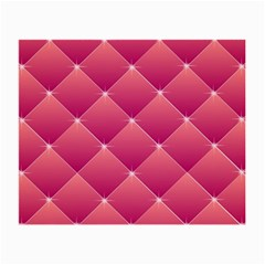 Pink Background Geometric Design Small Glasses Cloth (2 Side)