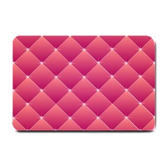 Pink Background Geometric Design Small Doormat