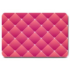Pink Background Geometric Design Large Doormat