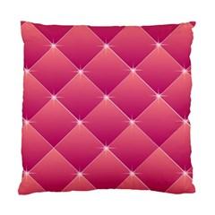 Pink Background Geometric Design Standard Cushion Case (two Sides) by Nexatart