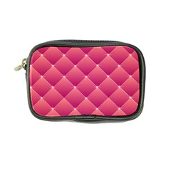 Pink Background Geometric Design Coin Purse
