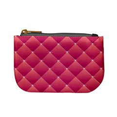 Pink Background Geometric Design Mini Coin Purses