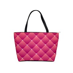 Pink Background Geometric Design Shoulder Handbags