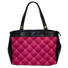 Pink Background Geometric Design Office Handbags