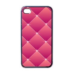 Pink Background Geometric Design Apple Iphone 4 Case (black)
