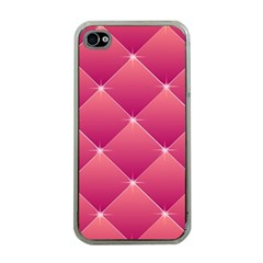 Pink Background Geometric Design Apple Iphone 4 Case (clear)