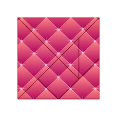 Pink Background Geometric Design Acrylic Tangram Puzzle (4  X 4 )