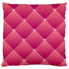 Pink Background Geometric Design Large Cushion Case (one Side)