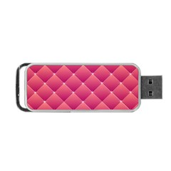 Pink Background Geometric Design Portable Usb Flash (two Sides)