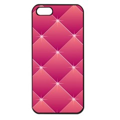 Pink Background Geometric Design Apple Iphone 5 Seamless Case (black)