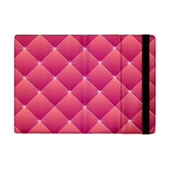 Pink Background Geometric Design Apple Ipad Mini Flip Case by Nexatart