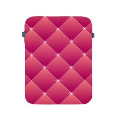Pink Background Geometric Design Apple Ipad 2/3/4 Protective Soft Cases