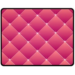 Pink Background Geometric Design Double Sided Fleece Blanket (medium)
