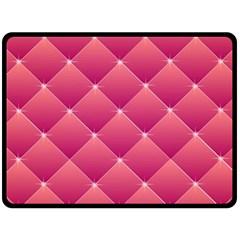Pink Background Geometric Design Double Sided Fleece Blanket (large)  by Nexatart