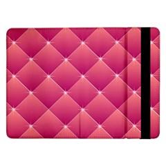 Pink Background Geometric Design Samsung Galaxy Tab Pro 12 2  Flip Case