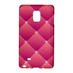 Pink Background Geometric Design Galaxy Note Edge