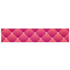 Pink Background Geometric Design Small Flano Scarf