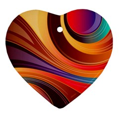 Abstract Colorful Background Wavy Ornament (heart) by Nexatart