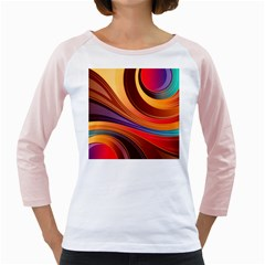 Abstract Colorful Background Wavy Girly Raglans