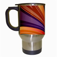 Abstract Colorful Background Wavy Travel Mugs (white)