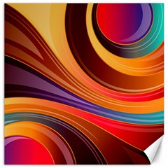 Abstract Colorful Background Wavy Canvas 20  X 20   by Nexatart