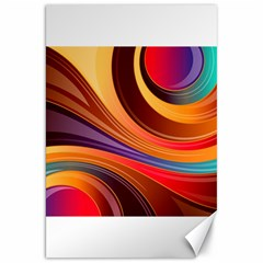 Abstract Colorful Background Wavy Canvas 20  X 30