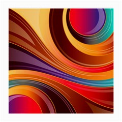 Abstract Colorful Background Wavy Medium Glasses Cloth (2 Side)