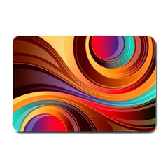Abstract Colorful Background Wavy Small Doormat