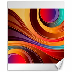 Abstract Colorful Background Wavy Canvas 11  X 14