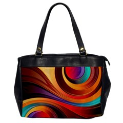 Abstract Colorful Background Wavy Office Handbags