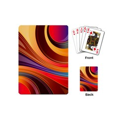 Abstract Colorful Background Wavy Playing Cards (mini)