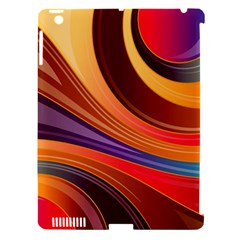 Abstract Colorful Background Wavy Apple Ipad 3/4 Hardshell Case (compatible With Smart Cover)