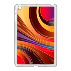 Abstract Colorful Background Wavy Apple Ipad Mini Case (white)