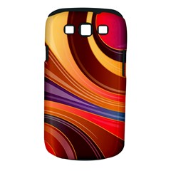 Abstract Colorful Background Wavy Samsung Galaxy S Iii Classic Hardshell Case (pc+silicone)