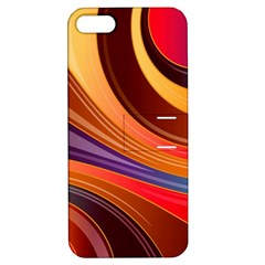Abstract Colorful Background Wavy Apple Iphone 5 Hardshell Case With Stand by Nexatart